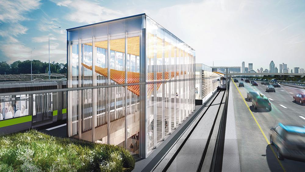 Rendu architectural de la station Panama
